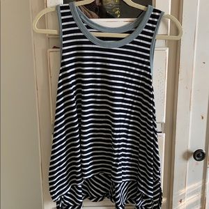 Free People Striped Tank Top
